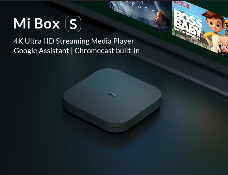 Топовый ТВ-Бокс Xiaomi MiBox S. Цена 51.87$