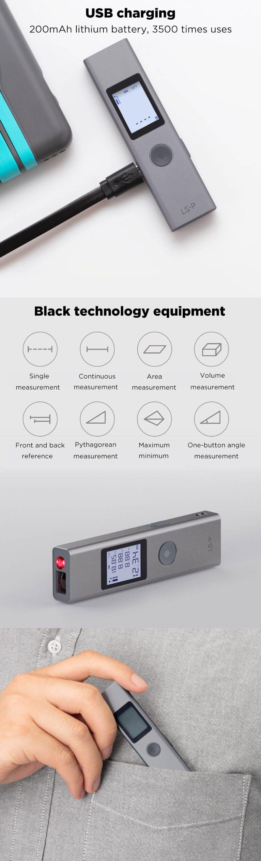 Лазерный дальномер Xiaomi DUKA LS-P. Цена $15.59