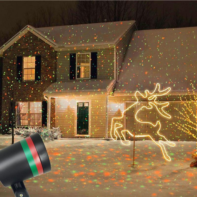 Уличный лазерный светильник-проектор. Цена $14.65