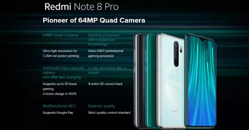 Смартфон Xiaomi Note 8 Pro 6+128ГБ глобальная версия. Цена с купоном 216$