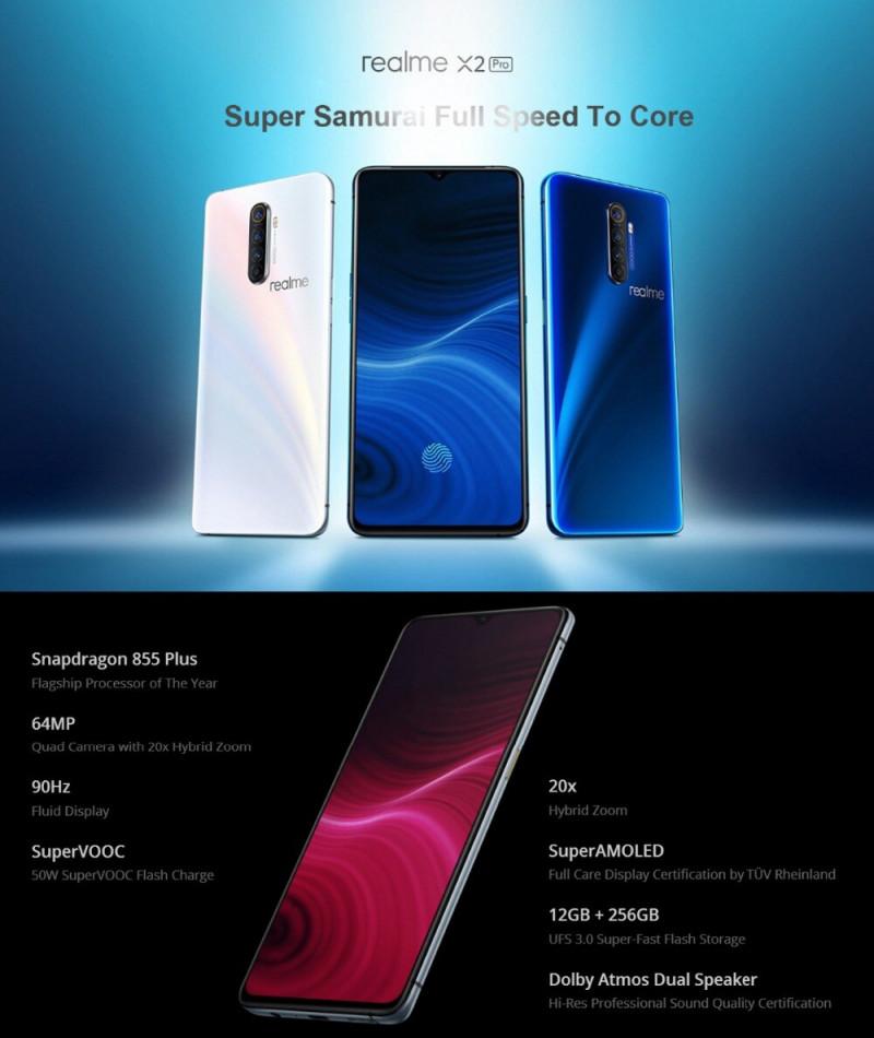 Смартфон Realme X2 Pro 8GB+128GB. Цена 399.99$ (с учётом скидки для фанатов)
