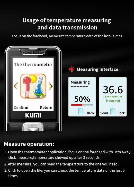 Телефон с встроенным пирометром Kumi Mi1