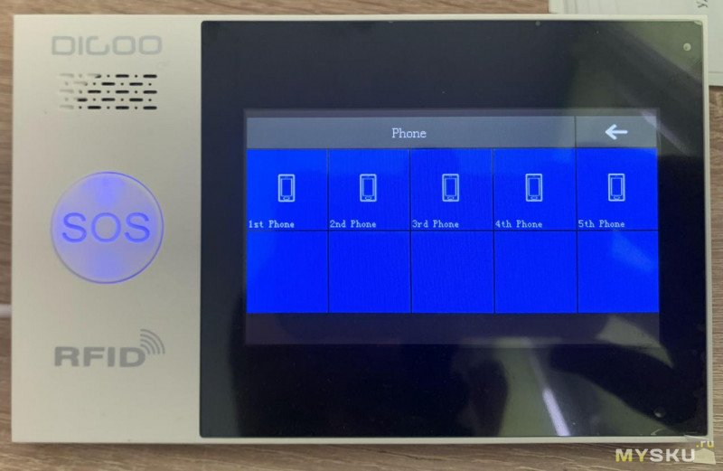 Cигнализация с подключением к умному дому TUYA SMART DIGOO DG-HAMB GSM&WIFI&433MHZ