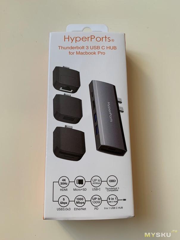 CableTime Usb Type-C hub с отстегивающимися портами.