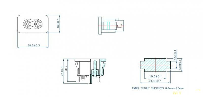 Разъемы IEC320 C8 для питания 220в, еще один небольшой апгрейд лаббп.