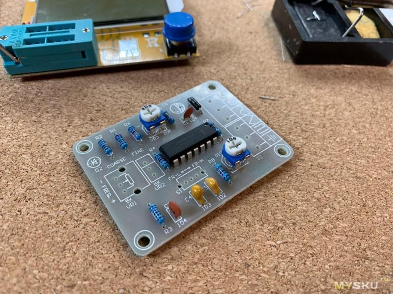 Набор для сборки генератора сигналов на ICL8038