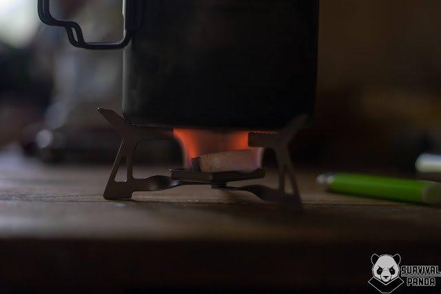 """""""Горелка"""" для сухого горючего lixada"""