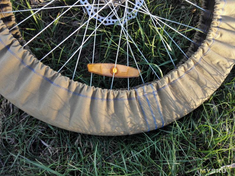 Шьем чехлы на колеса велосипеда