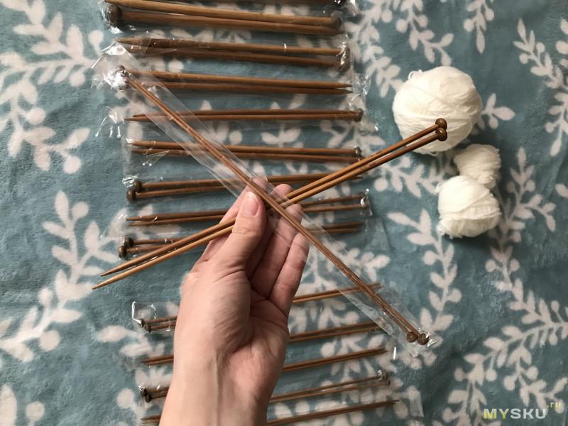 Набор из 36 бамбуковых спиц или как я впервые вязала снуд