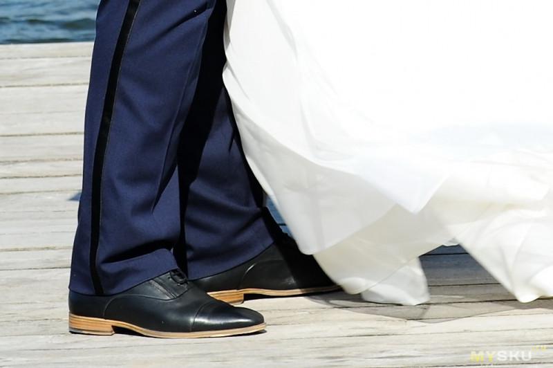 Черные кожаные туфли на шнуровке ASOS DESIGN