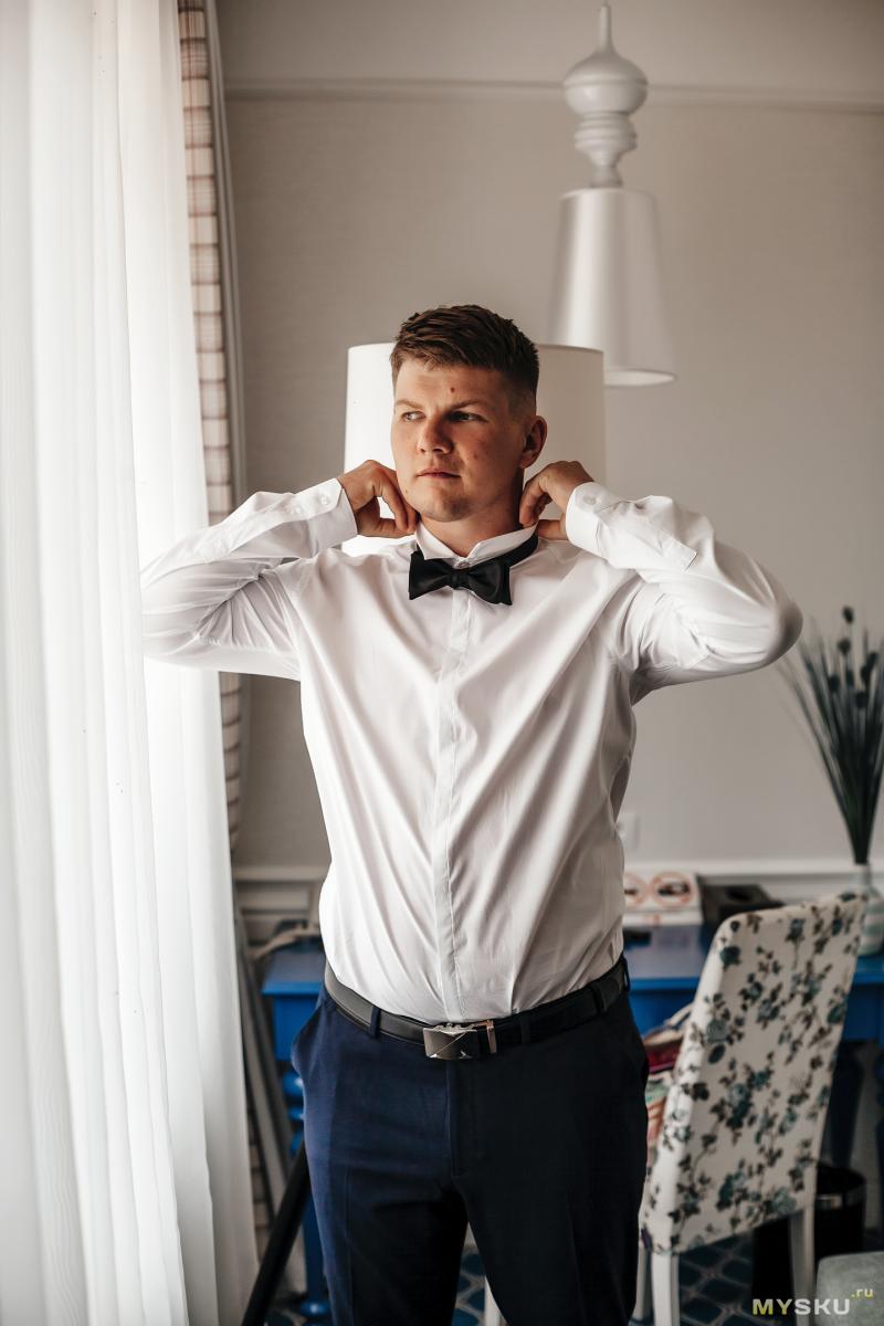 Облегающая рубашка со скрытой планкой Noak