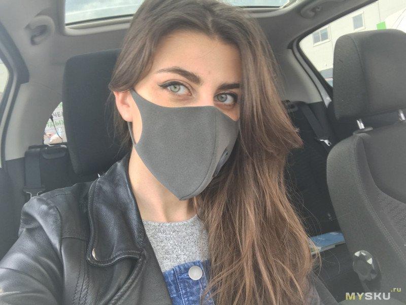 Пылезащитная маска-фильтр Xiaomi ZHIMI PM 2,5 с клапаном (стандарта KN95)