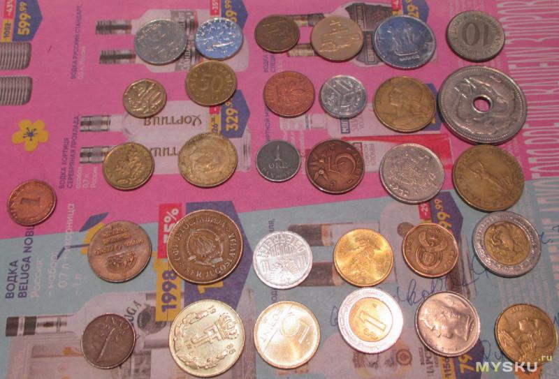 Монеты различных стран, присланные из Израиля, Великобритании, Испании, Португалии, Литвы и Латвии (сравнительный обзор) (Часть 1)