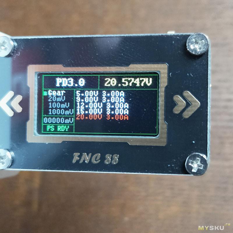 USB C тестер/триггер FNC88