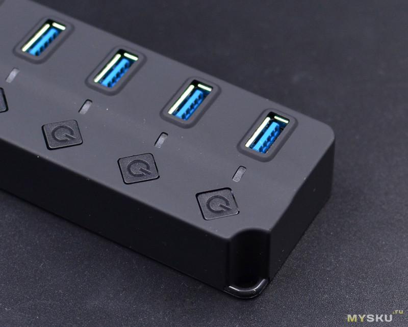 USB3.0 концентратор: 7 в 1. Кандидат на звание народного хаба