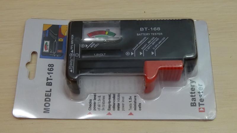 Как найти разряженные батарейки, или обзор тестера BT168
