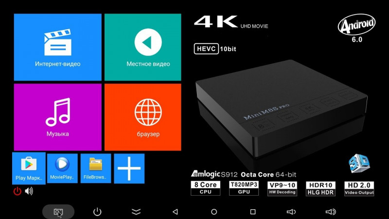 Хороший ТВ бокс Mini M8S Pro TV Box 3GB DDR4 + 32GB за $66 99