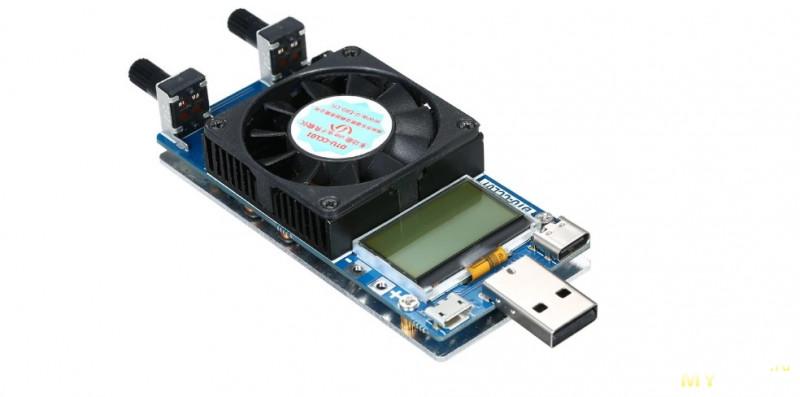 Многофункциональная электронная нагрузка на 35W с USB-Type C, тестом кабелей, триггером и автотестом протоколов зарядки