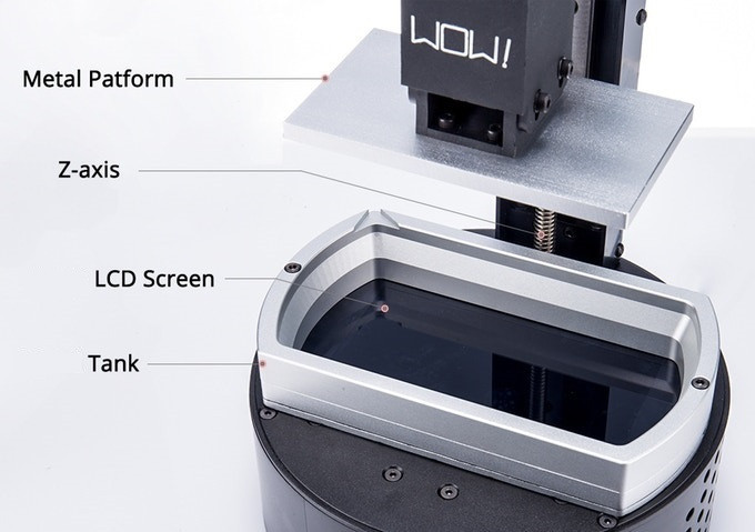 Фотополимерный 3D принтер SparkMaker SLA: маленький и доступный