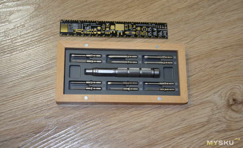 Набор отверток в деревянном кейсе ATuMan X-mini 24-в-1