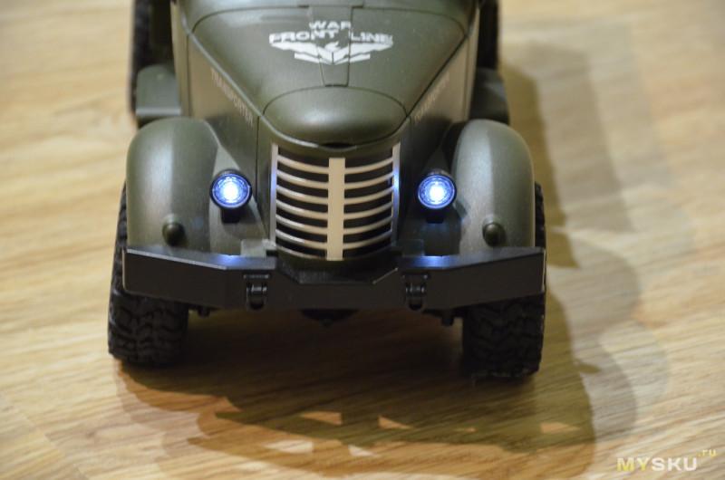 Машинка на р/у JJRC Q61 - стильный военный грузовичок