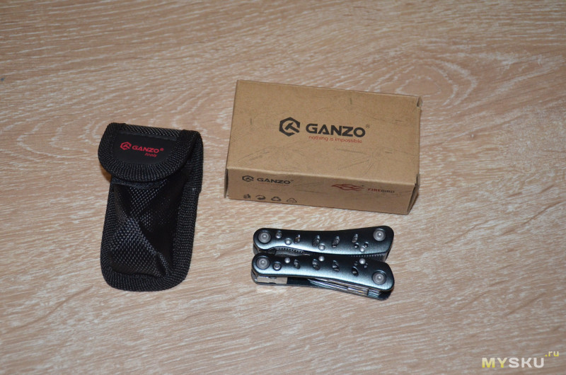 Мультитул GANZO G101S (2019S) Portable Mini 10-in-1 Multifunctional Pliers