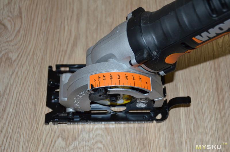 Компактная аккумуляторная мини-циркулярка WORX WX523L.1