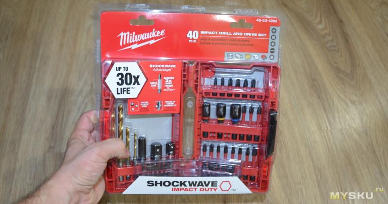 Набор ударных бит и переходников Milwaukee SHOCKWAVE 48-32-4006 (40 шт в кейсе)