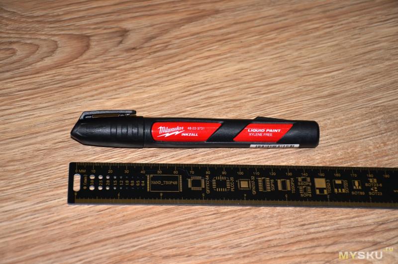 Маркер на основе жидкой краски Milwaukee 48-22-3731 INKZALL Paint Marker (Black): маркер, пишущий нестираемой краской