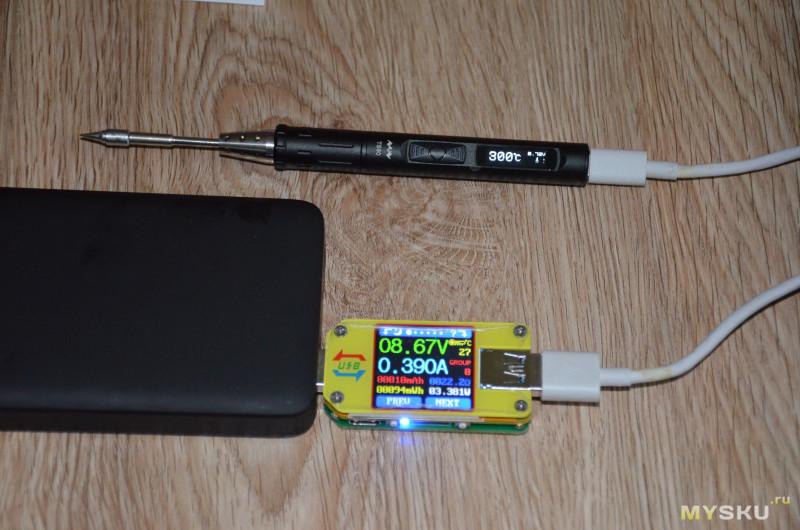 Портативный USB паяльник TS80 18W