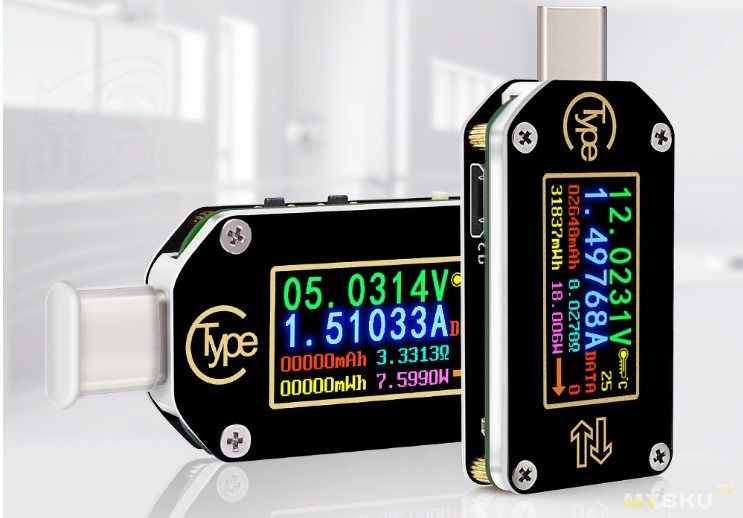 Новый USB тестер TC66C с поддержкой PD от Ruideng Technologies