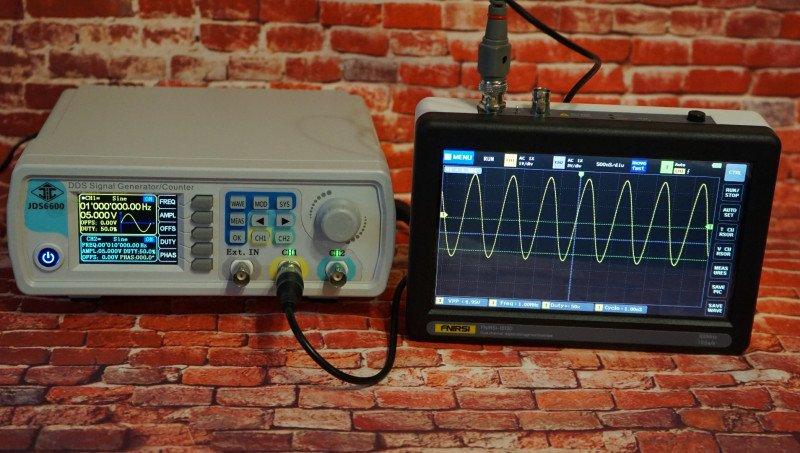 Сенсорный планшетный осциллограф FNIRSI-1013D 100MHz - новое поколение планшетных осциллографов, на этот раз на 2 канала