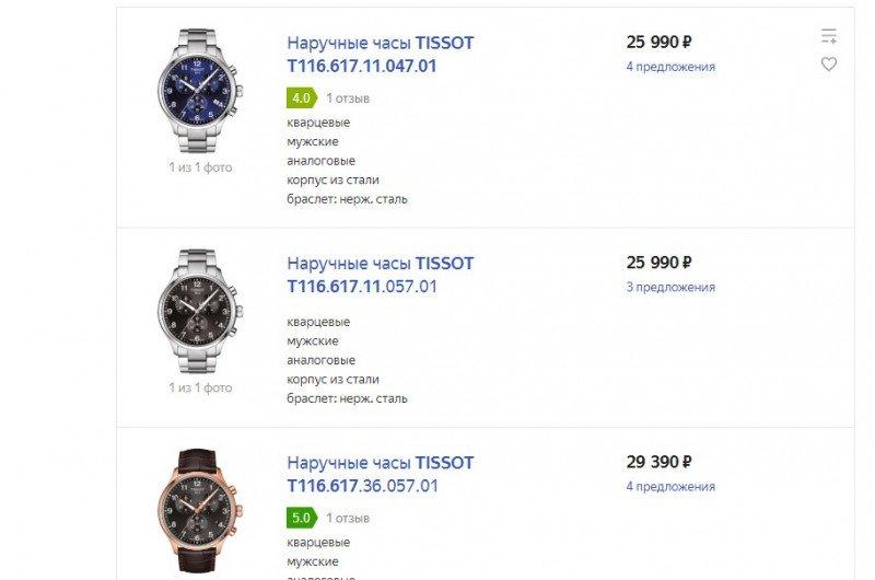 Наручные часы Tissot Chrono XL Classic Blue T116.617.11.047.01: мужская классика с хронографом