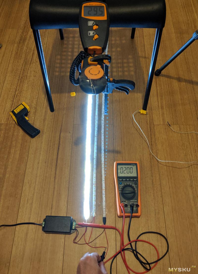 Светодиодная лента (LED strip) с aliexpress, 24V, IP65, белая, 5 метров -- «крушение всех надежд»