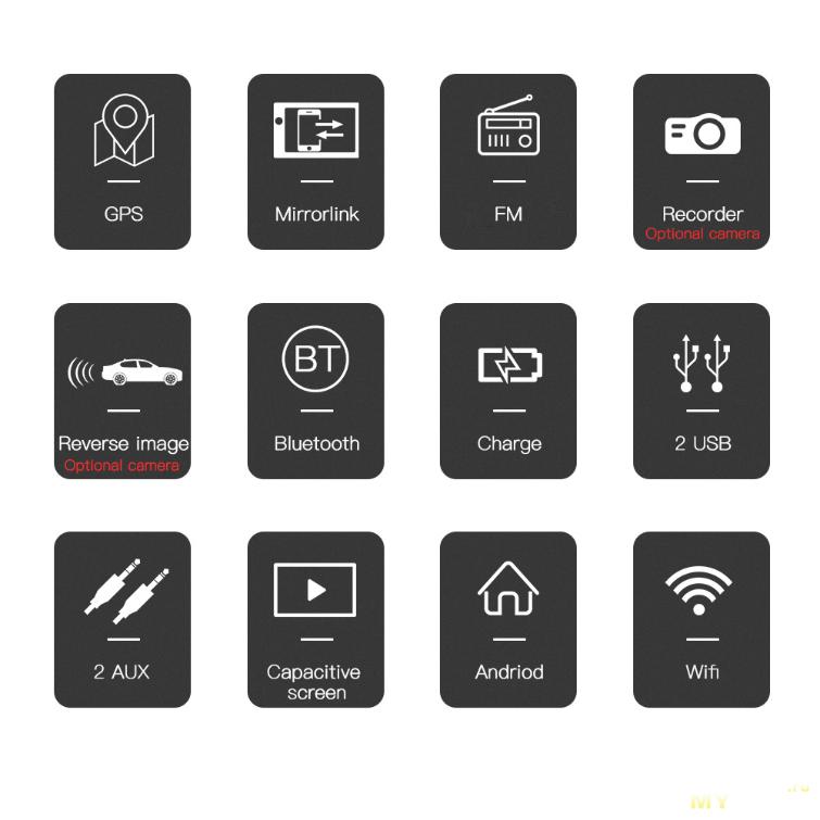 Автомагнитола 2DIN на Android 8.1 за 57.11$