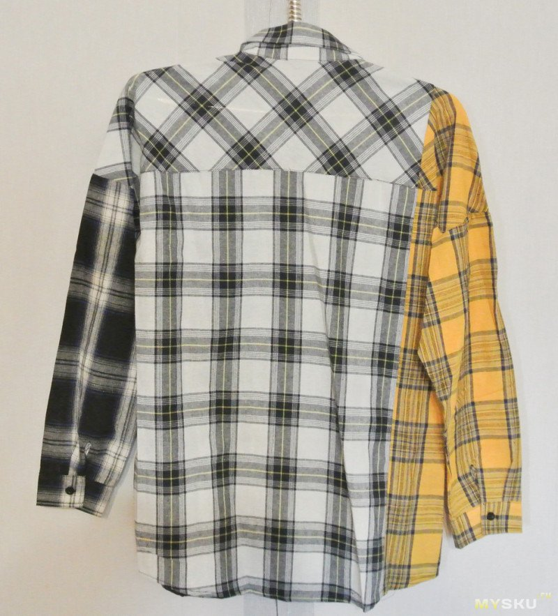 Клетчатая х/б рубашка от Zaful.
