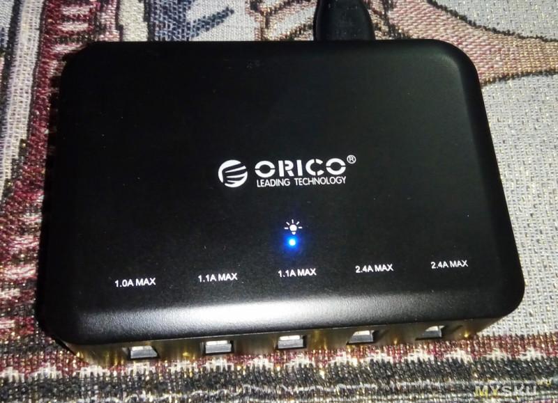 Пятипортовая восьмиамперная зарядка ORICO