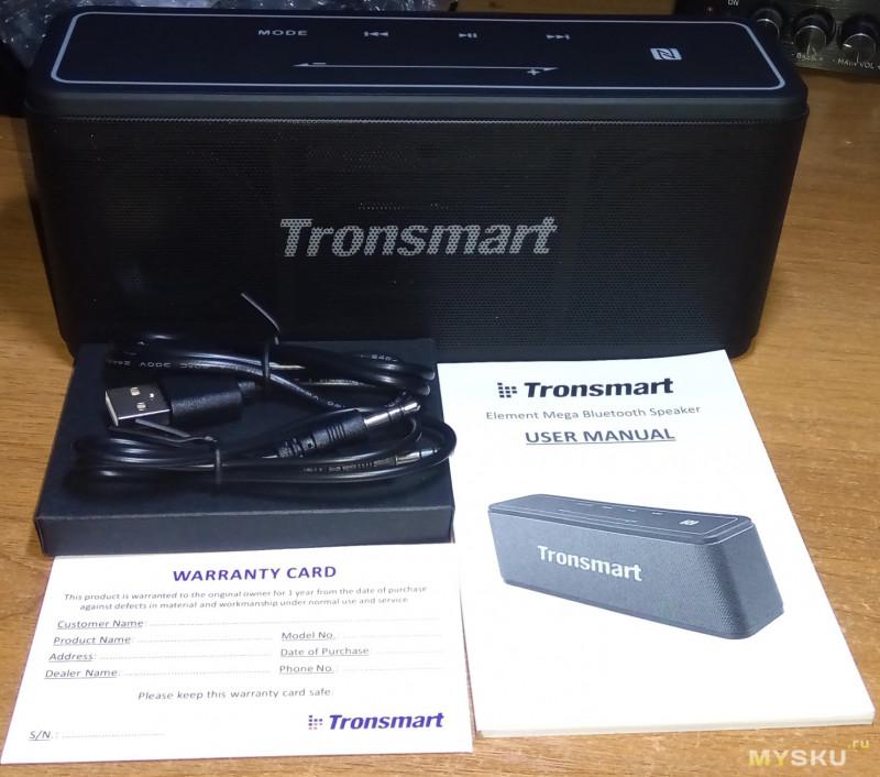 Портативная акустика Tronsmart Element Mega