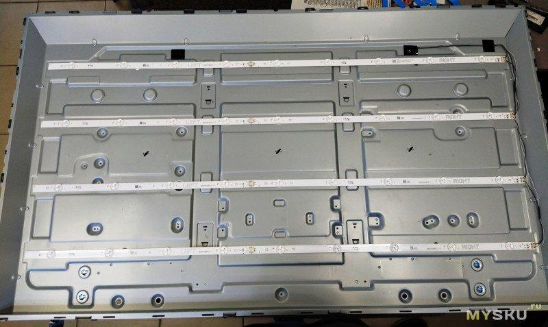 Самостоятельная замена подсветки на телевизоре LG 49UH619V