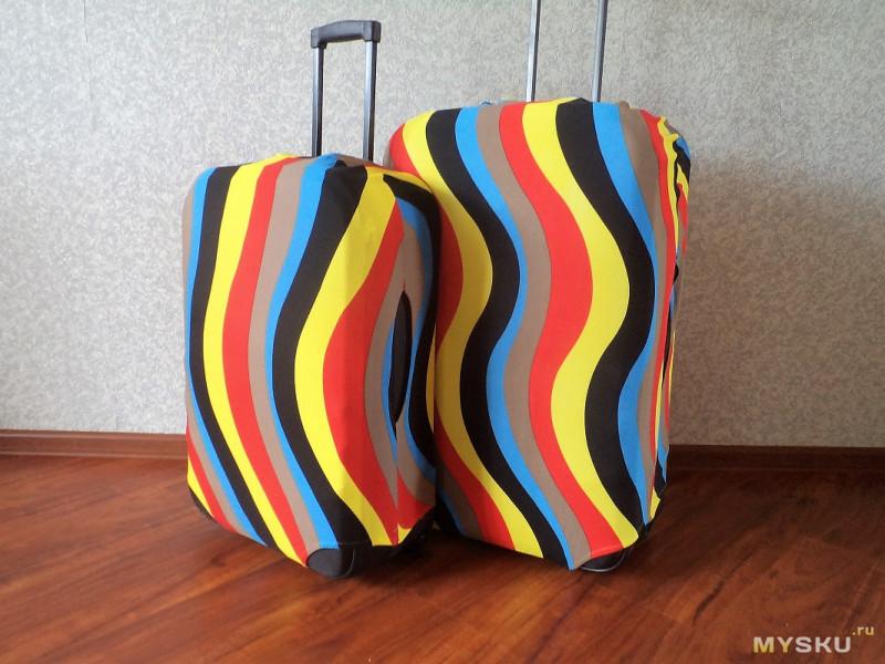 f45519327e05 Чехлы представляют собой, простите за тавтологию, тканевые чехлы,  надеваемые на дорожные чемоданы (на двух или четырех колесиках с ручкой для  переноски на ...