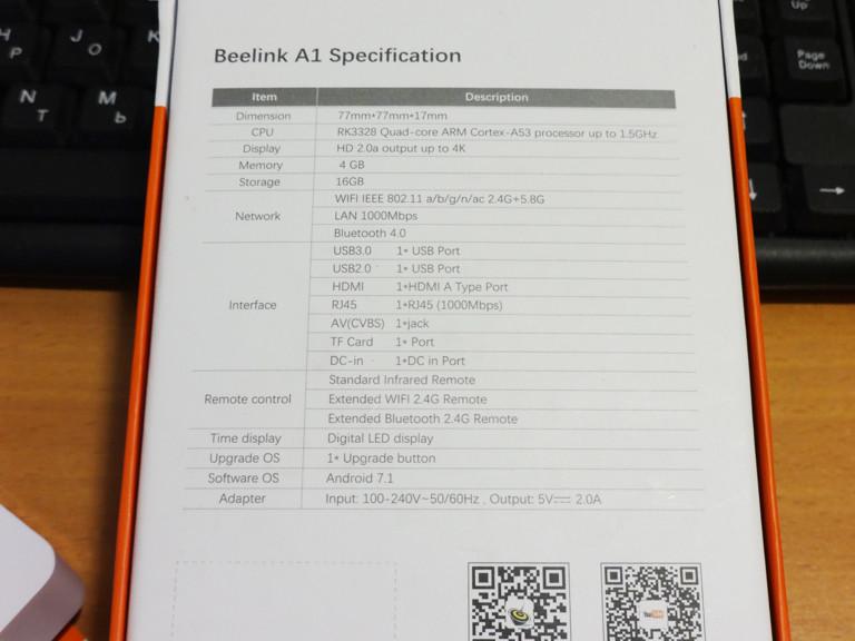 Banggood: Микро ТВ-бокс Beelink A1 на базе RK3328 с 4 ГБ ОЗУ: мощный малыш у вас в кармане.