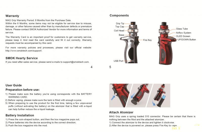 Яркий SMOK Mag Grip Kit