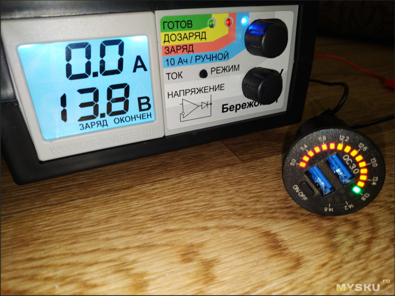 Зарядное устройство 12V/24V Quick Charge 3,0 для автомобиля с двумя портами USB.