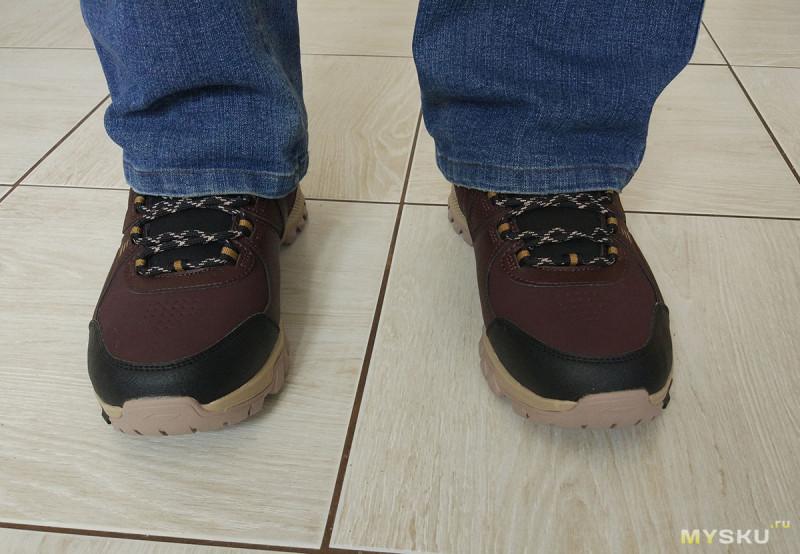 3cf676699 ... на 5 мм), но он говорит, что с толстыми зимними носками будет  нормально. На мой взгляд смотрятся так себе, но брату нравятся. С другой  стороны, обувь в ...
