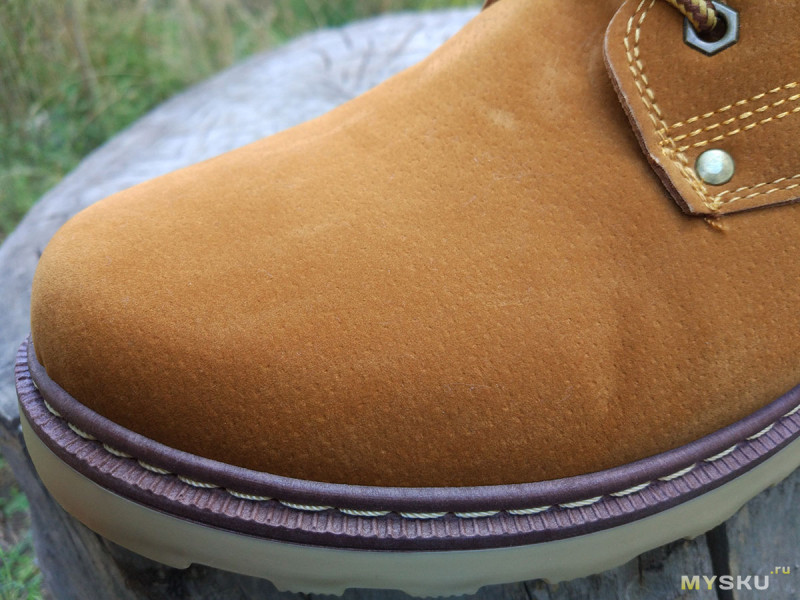 Желтые замшевые ботинки Kailong 2016