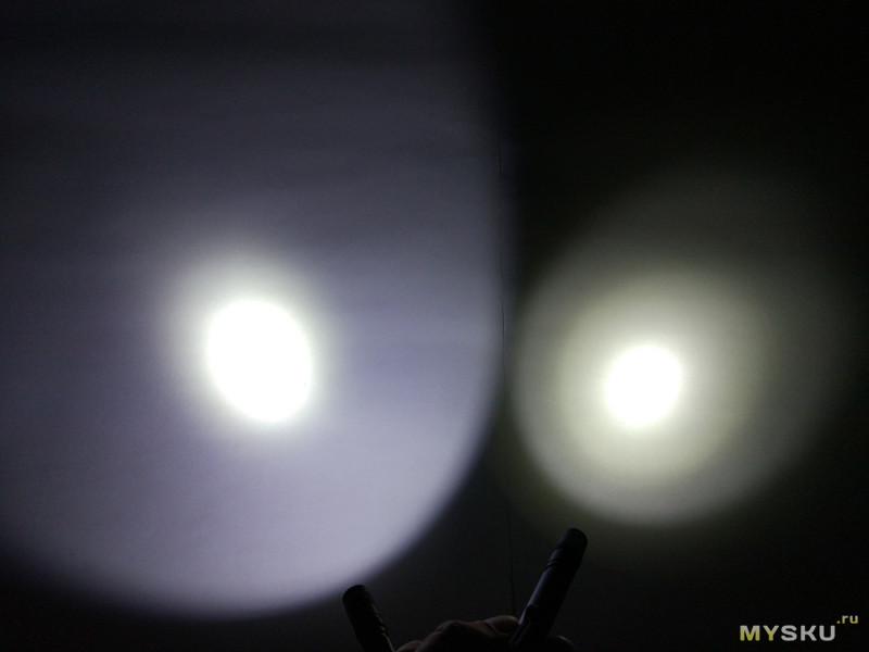 Популярный наключный фонарик Tank007 E09 и его разборка