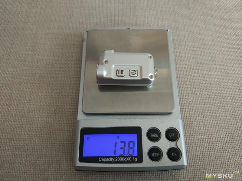 Миниатюрный наключный фонарик Nitecore TINI CREE XP - G2 S3
