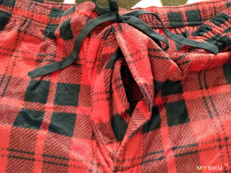 Теплые домашние штаны Stafford большого размера. Цвет Red Buffalo