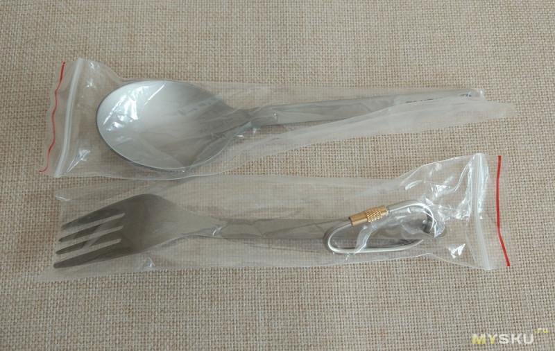 Титановые ложка и вилка TOMSHOO