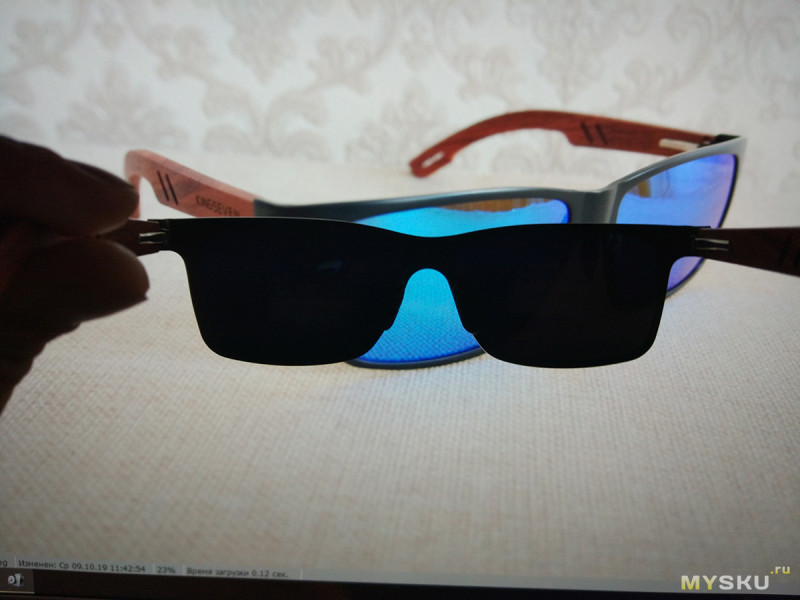 Поляризационные очки KINGSEVEN с дужками из дерева бубинга